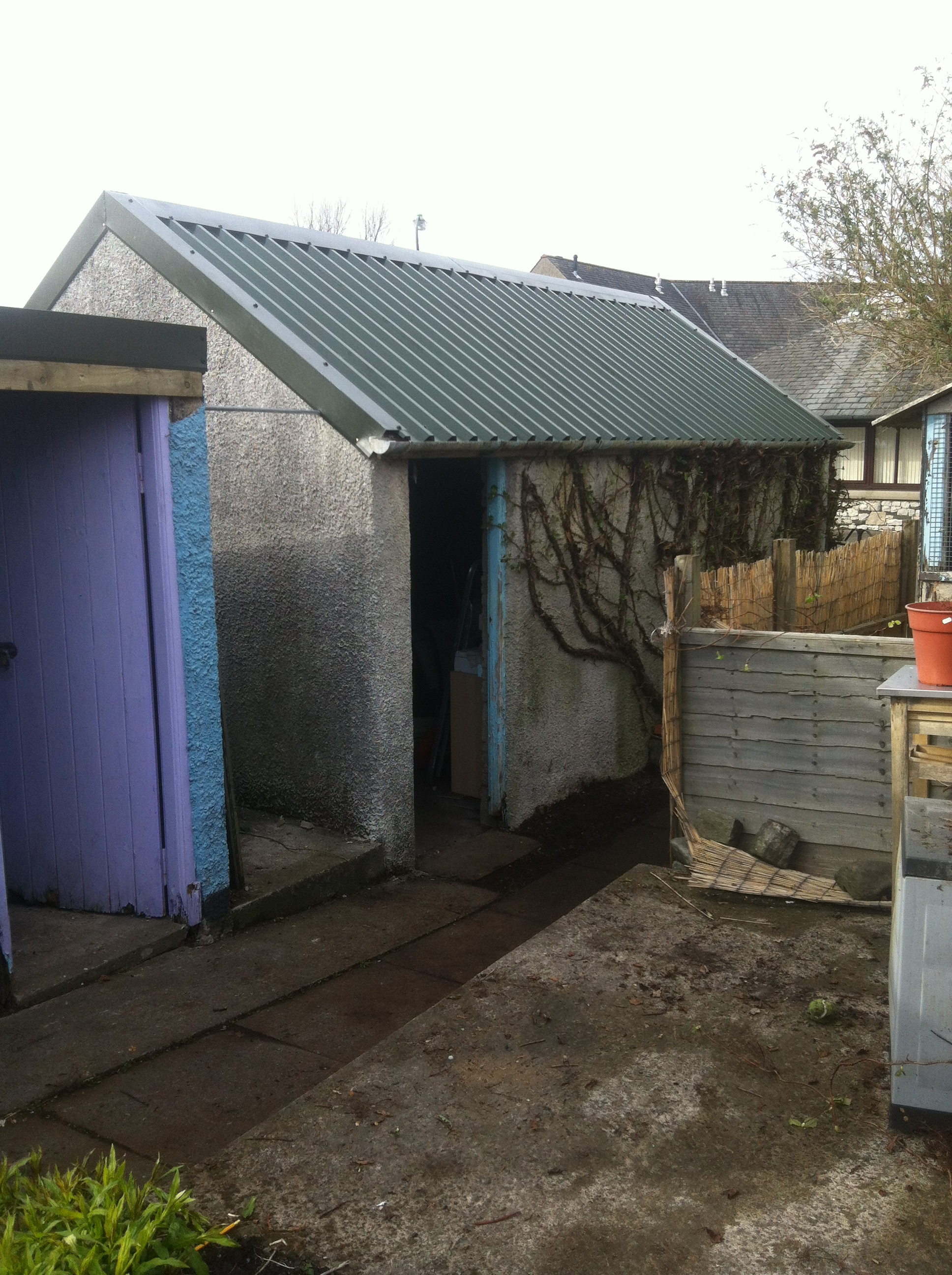 Garage Roof Refurbishment Asbestos Corrugated Cement Box Profile Sheets